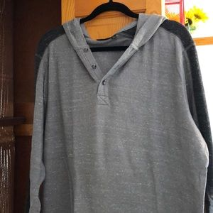 Men's Apt 9 hoodie in gray.